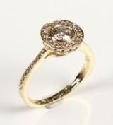 Brilliant-cut diamond ring, 14 kt. gold