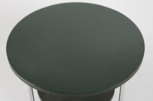Beistelltisch Couchtisch Sofatisch Stahlrohr Skai Glas Grun
