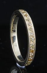 18kt. eternity yellow diamond ring approx.0.75ct