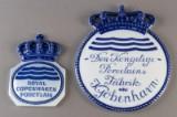Royal Copenhagen. Two porcelain plaques (2)