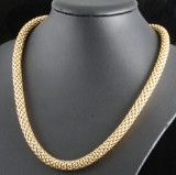 18kt Fope mesh necklace approx. 54 gr