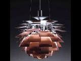 Poul Henningsen. Pendant lamp, PH Artichoke, copper, Ø 72