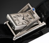 Cartier 'Basculante'. Men's watch, steel with reversible case, c. 2007