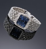 Vintage Rolex Orchid ladies' watch, 18 kt. white gold with diamond bezel, c. 1975