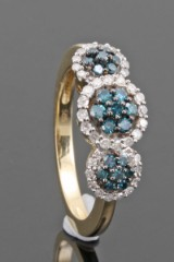 Diamond ring in 14kt approx. 0.48ct