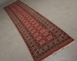Persisk løber. Ægte, håndknyttet tæppe, 342 x 79 cm.