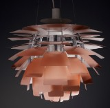 Poul Henningsen. Pendant lamp, PH Artichoke, copper. Ø 60 cm, with accompanying numbered certificate