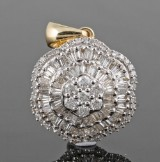 Diamond pendant, 14kt. gold, approx 1.08ct.
