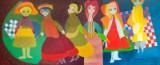 Helga Radener-Blaschke, Öl auf Leinwand, 'Puppen-Impression'