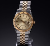 Rolex 'Turnograph'. Vintage men's watch, 18 kt. gold and steel, c. 1968