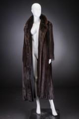 Mahogany mink coat, size 42, labelled Alex, Upper Montclair