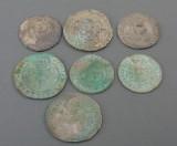 Gammel Danmark mm, samling skillingsmønter (7)