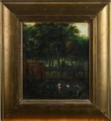 Albert Moerman. Wald mit Badenden