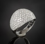 Brilliant-cut diamond ring approx. 3.59 ct.