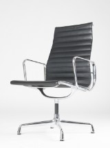 Charles Eames. Conference chair, model EA-109, black leather