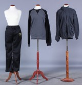 Grå jakke, sort Lamborghini pants samt sort/grå Raglar. Str. M (3)