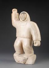 Large Greenlandic marble figure representing sealer