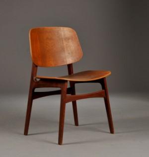 teak stol Børge Mogensen. Stol af teak, model 155 | Lauritz.com teak stol