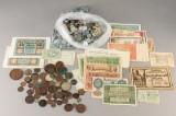 Samling danske og udenlandske mønter