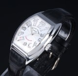 Franck Muller 'Conquistador'. Men's watch, steel, with guilloche dial, c. 2005