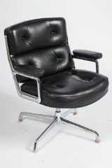 Charles and Ray Eames, an office chair, 'Lobby Chair', ES-108, black leather, for Herman Miller