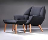 Kurt Østervig. 'Easy Chair' lounge chair with ottoman (2)