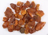 Danish amber, unpolished pieces, weight 879 g