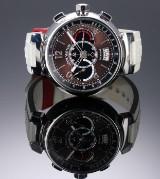 Louis Vuitton 'Tambour Chronograph'. Limiteret herreur i stål med kobberfarvet skive med dato, 2010'erne