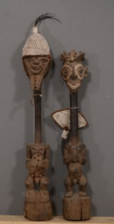 Pair of figures from Congo, c. 60-65 years old. Tabwa tribe (2)