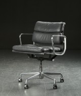 Charles Eames. Soft Pad office chair, leather