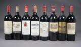 Samling forskellige franske vine, årgang 1986(8)