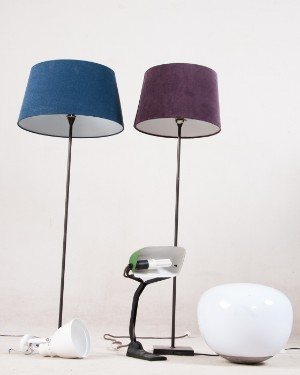 konvolut lampen 2 stehlampen von ikea 1 bodenlampe von. Black Bedroom Furniture Sets. Home Design Ideas