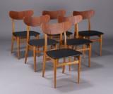 Dansk møbelproducent. Spisestole, teak (6)