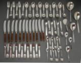 Bestik af sølv, model 'Funkis III' (67)