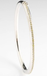 18kt fancy yellow diamond bangle approx. 0.60ct