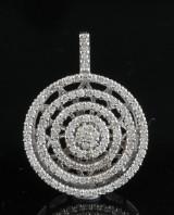 18kt diamond rotating pendant approx. 1.00ct