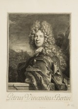 C Vermeulen, Petrus Vincentius Bertin Portrait, 1694, Kupferstich / Druck
