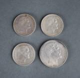Danmark. 4 mønter