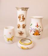 Meissen, 3 Porzellanvasen und 1 Porzellanschale (4)
