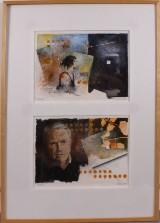 Ivan Riis, olie på papir, figurkompositioner (2)