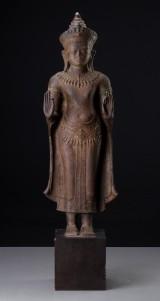 Stående Buddha af bronze, Siam, 1800-tallet