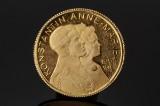 Konstantin - Anne-Marie 1964 - 1973 Mindedukat af guld 21,6 kt.