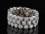 18kt diamond flexible ring approx. 1.17ct