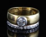 18kt diamond ring approx.0.96ct & 6.14gr