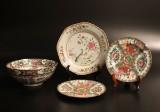 Samling porslin, Kina, 4 delar, 1700 samt 1800-tal (4)