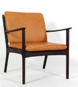 Ole Wanscher. Lounge chair, Model PJ112, aniline leather and rosewood
