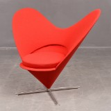 Verner Panton, heart-shaped lounge chair, 'Heart Cone Chair'