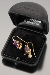 Ole Lynggaard. 'Sofia' earrings with amethysts and diamonds (2)