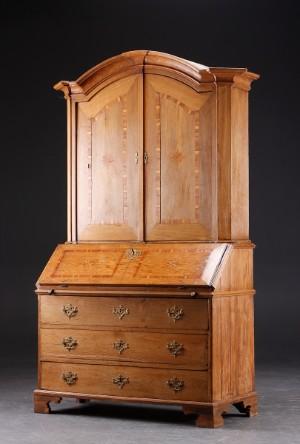 m bel friesischer barocksekret r eiche 18 jh dk roskilde store hedevej. Black Bedroom Furniture Sets. Home Design Ideas