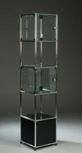 usm haller vitrine sort. Black Bedroom Furniture Sets. Home Design Ideas